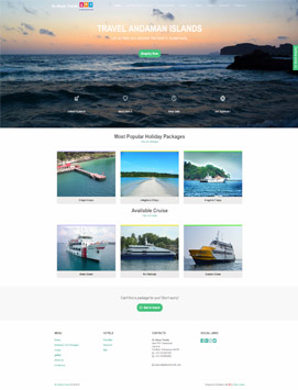product Static Website Template 1 Desktop view